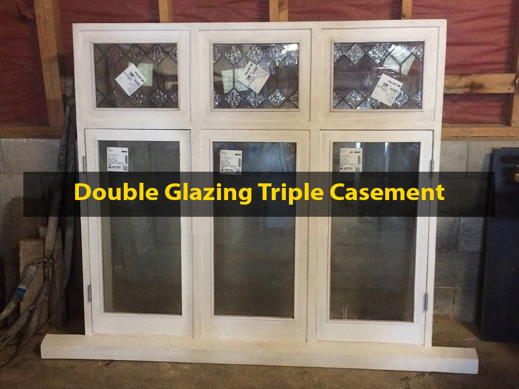 Double Glazing Triple Casement Window, Double Casement Window Repair, Window Repair, Double Glazing, Leadlight, No. 8 Building Recyclers, Reglazing, Wellington, Glass Retrofitting