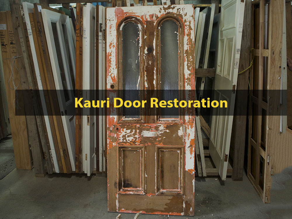 Kauri Door Restoration, Dip Stripping, Window Replacement, Glazing, Door Repair, Door Restoration, No. 8 Building Recyclers, Wellington
