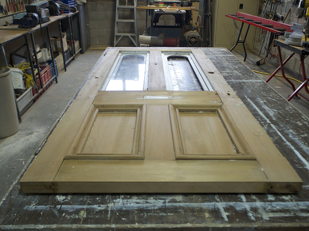 #121 Kauri Door Restoration, No. 8 Building Recyclers, Wellington, Door Restoration