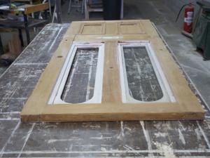 Kauri Door Restoration, No. 8 Building Recyclers, Wellington, Window and Door Repair