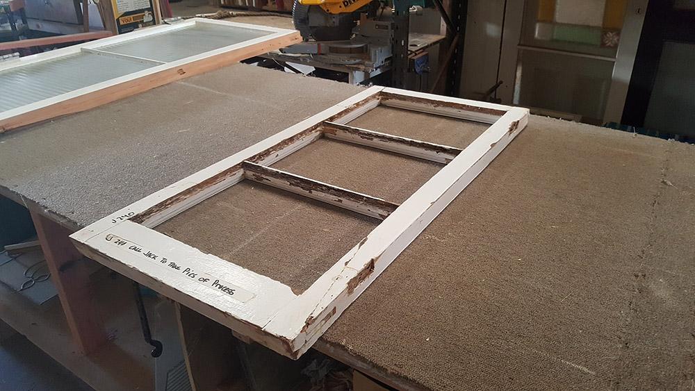 Window Sash Repair & Reglaze, Broken Window Sash Repaired, Reglazed, Window Repair, No. 8 Building Recyclers, Wellington