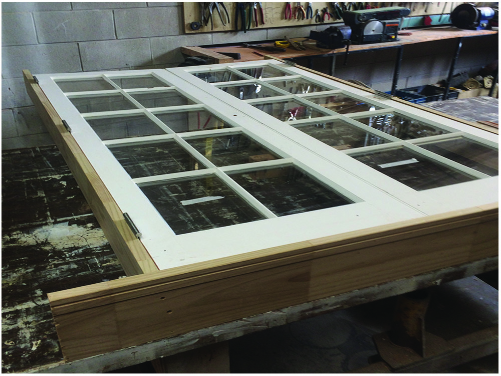 Cedar French Door Frame Build Restoration H3 Pine No