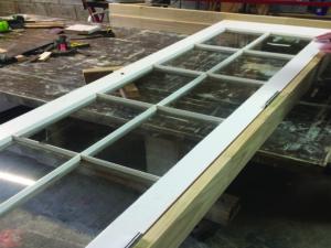 Cedar French Door Frame Build, French Door Restoration, H3 Pine Frame, No. 8 Building Recyclers, Wellington