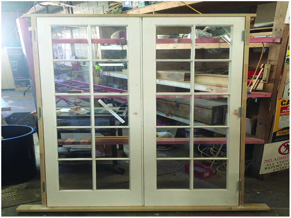 Cedar French Door Frame Build, French Door Restoration, H3 Pine Frame, No.