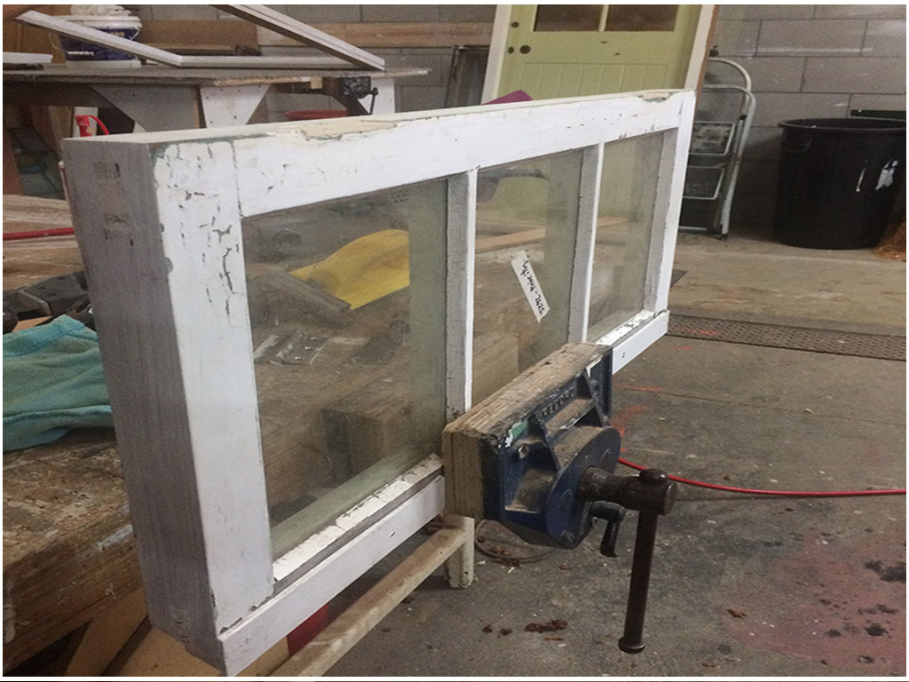 Window Sash, Frame Build, Three Light Window, Clear Float Glass, Window Repair, Top Hung, Casement Window, No. 8 Building Recyclers, Wellington