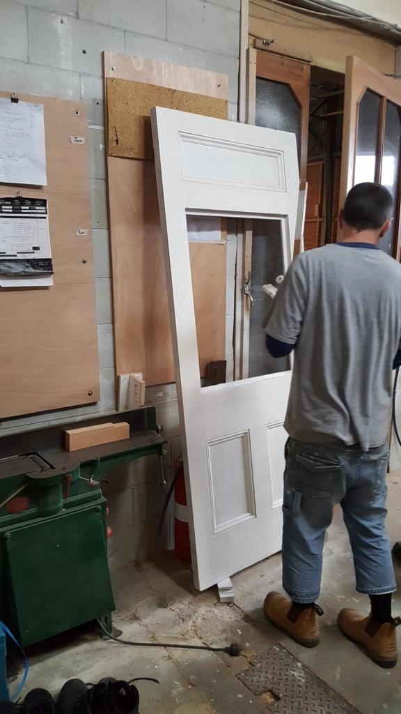 Statesmen Door Restoration, Statesmen Door Repair, Double Glazing, Villa Door Restoration, No. 8 Building Recyclers, Building Recyclers, Door Repair, Door Restoration, Wellington